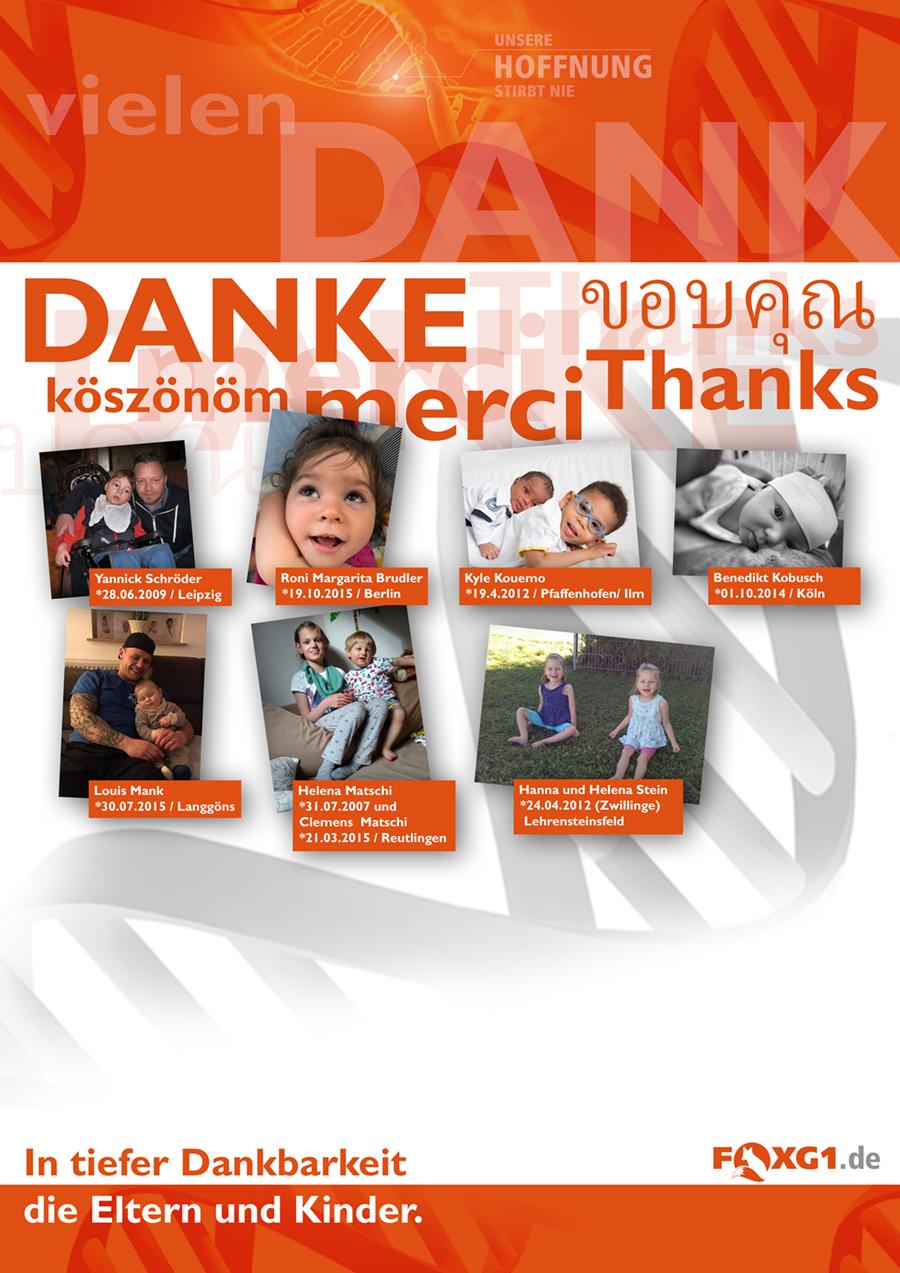 Wir Wollen Danke Sagen Foxg1 Gen Mutation Deutsche Community